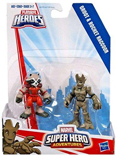 Playskool Heroes Marvel Super Hero Adventures Groot and Rocket Raccoon ()