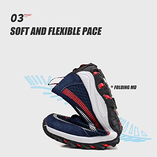 Running Slip Blu Antiscivolo Scuro Outdoor Ginnastica Fitness Sneakers Gym Trekking Traspirante Mesh Da Camminare Sport On Scarpe Monrinda Antiurto Mens Casual Athletic Jogging ptqxCw5