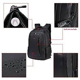 Uoobag KT-01 Slim Laptop Backpack Waterproof Anti-theft Bag 15.6 Dark Coffee