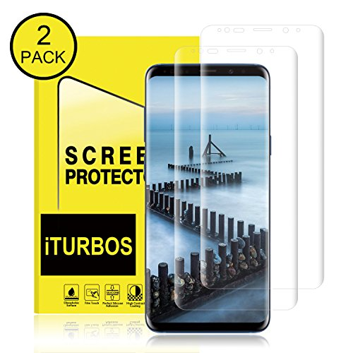 Galaxy S9 Plus Screen Protector,[2Pack] Cafetec Full Screen Coverage 3D PET HD Screen Protector Film for Samsung Galaxy S9 Plus.