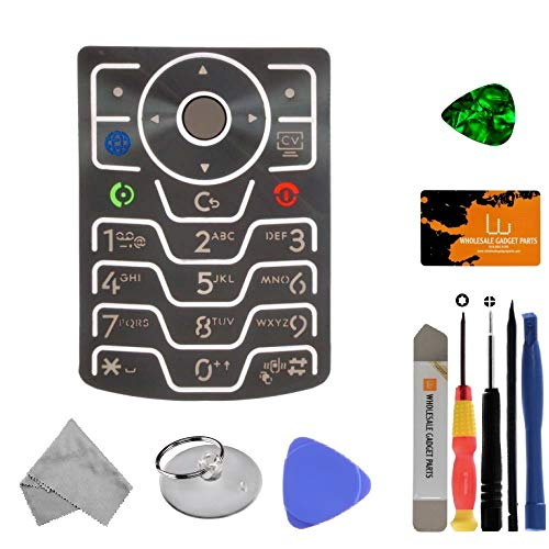 V3xx Parts - Keypad for Motorola V3xx RAZR (Silver) with Tool Kit