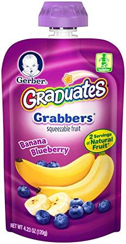 Gerber Graduates Grabbers - Banana Blueberry - 4.23 oz - 6 pk