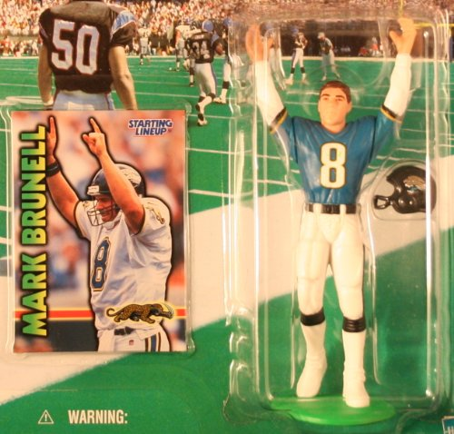 MARK BRUNELL / JACKSONVILLE JAGUARS 1999-2000 NFL Starting Lineup Action Figure & Exclusive NFL Collector Trading Card