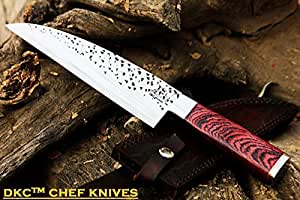 """++DKC-194-440c ZATORI CHEF Knife 440c Stainless Steel Blade 7"""" Rosewood Handle 5"""" 12"""" Overall 10oz"""