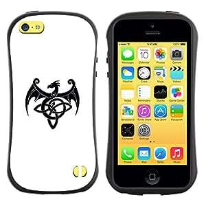 Suave TPU GEL Carcasa Funda Silicona Blando Estuche Caso de protección (para) Apple Iphone 5C / CECELL Phone case / / Decal Monster Ink Black White /