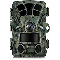 Trail Camera 16MP 1080 2.4 LCD Full HD Hunting Game Trail Cam with Night Vision IP56 Waterproof Low Glow 850nm Upgrading IR LED 0.2S Trigger Time 65FT 120°Range Wildlife Camera