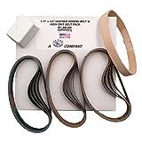 """1/2""""x12"""" High Grit Belt Pack Fits Original Work Sharp 15 Grit Belts & Leather Honing Belt w/ Buffing Compound"""