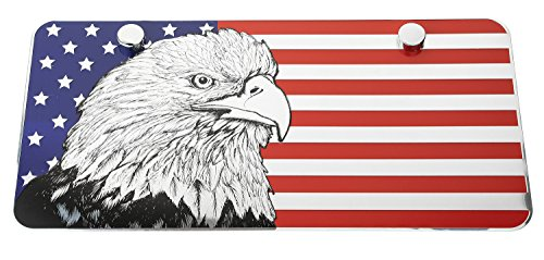 - LFPartS USA American Eagle Metal Embossed License Plate (12
