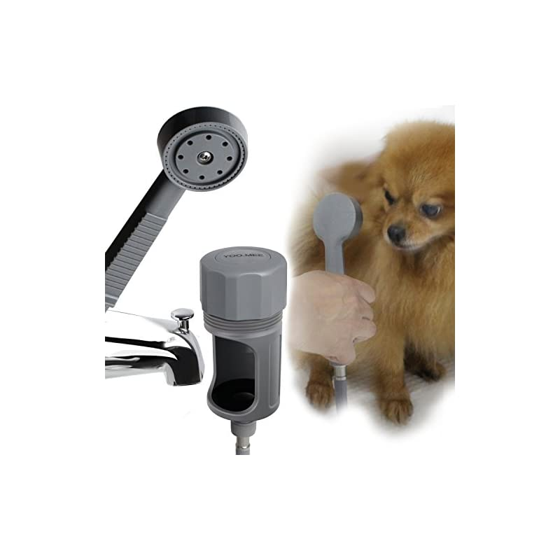dog supplies online pets shower attachment, quick connect on tub spout w/ front diverter, ideal for bathing child, washing pets and cleaning tub