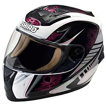 Shiro SH-821 Motion - Casco integral de moto, color rosa rosa Talla: