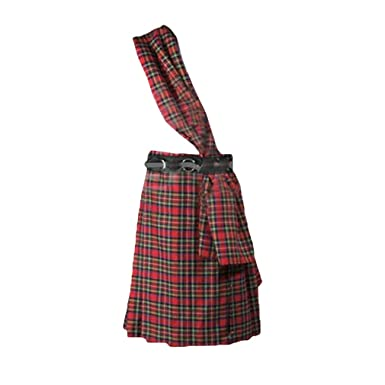 hibote Hombres Escocés Tradicional Kilt Celosía Plisado ...