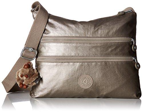 Kipling Women's Alvar Gm Cross bdoy, Metallic Pewter (Bag Metallic Vintage Shoulder)