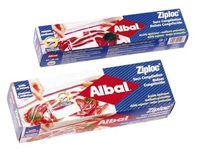 Albal - Bolsas cong.ziploc 2 tamaños 15+15u: Amazon.es ...