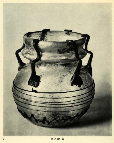 1939 Print Ancient 4th 5th Century Decorative Glass Vase Glassware Handicraft - Original Halftone Print from PeriodPaper LLC-Collectible Original Print Archive