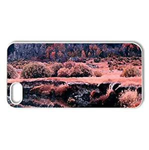 FALLING FOR FALL - Case Cover for iPhone 5 and 5S (Forests Series, Watercolor style, White)