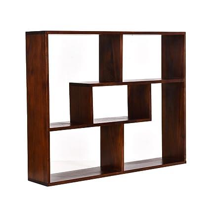 Restaurant wine cabinet / wall rack / wall shelf wall cabinets modern minimalist bookshelf bookcase brown