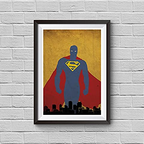 Superman Minimalist Poster Superhero Avangers DC Comics Alternative Print Superman Movie Home Decor Illustration Cinema Artwork Wall Art Hanging Cool - Alternative Wall Art