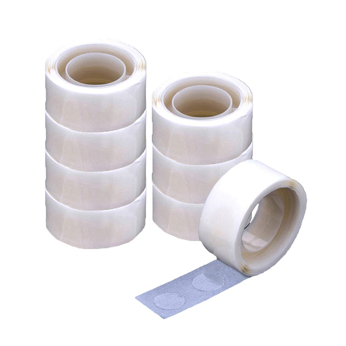 Balloon Glue 1200 PCS (12 Rolls) Double Sided Dots of Glue Craft Adhesive Point Tape Non-liquid Glue (1200 PCS) Novelty Bank 4336846479