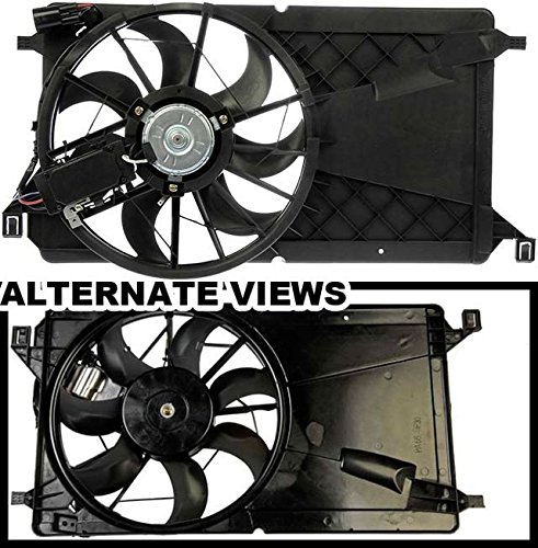 APDTY 731842 Radiator Cooling Fan Blade Motor Shroud Assembly Fits 2004-2009 Mazda 3 Without Turbo (Replaces Z602-15-025F, Z60215025G)