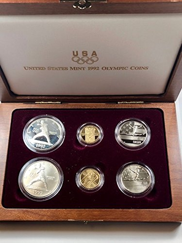 - 1992 w US Olympic 6-Coin Commemorative Set OGP BU
