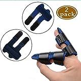 Trigger Finger Splint Extension Splint for Trigger Mallet Finger Brace Built-in Aluminium Bar Support for Finger Straightening Pain Relief Finger Knuckle Immobilization One Size (Blue)