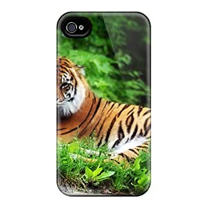 New Williamwtow Super Strong Tiger Tpu Case Cover For Iphone 4/4s