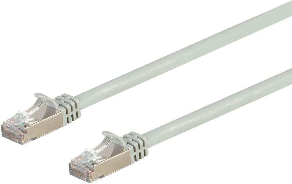 Monoprice 131354 Cat7 Ethernet Network Patch Cable - 15 feet - Gray   26AWG, Shielded, (S/FTP) - Entegrade Series