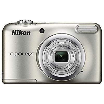Nikon COOLPIX A10 16.1MP 5x Optical Zoom NIKKOR Glass Lens Digital Camera (Silver) + 32GB SDHC High Speed Memory Card+ AA Spare Batteries + Accessory Bundle by Nikon