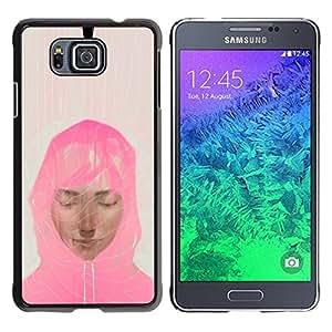 Be Good Phone Accessory // Dura Cáscara cubierta Protectora Caso Carcasa Funda de Protección para Samsung GALAXY ALPHA G850 // Muslim Woman Pink Scarf Art Painting Portrait