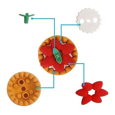 30pcs gomme di gomma della matita di stile della novit/à della novit/à gomme del partito di puzzle del dessert della verdura della frutta per i riempitori del sacchetto del partito del bambino
