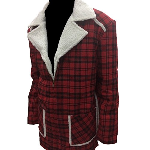 Classy Deadpool Ryan Reynolds Shearling Modish Coat Style Red Jacket (L) -