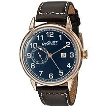 August Steiner Men's AS8182RGBR Analog Display Swiss Quartz Brown Watch