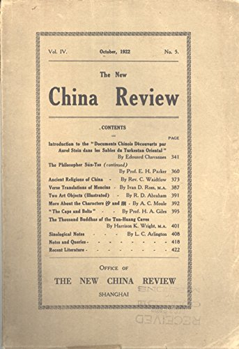 - The New China Review, Volume 4, Number 5