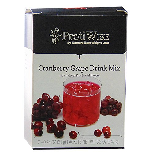 ProtiWise - Protein Diet Fruit Drinks - Cranberry Grape (7/box)