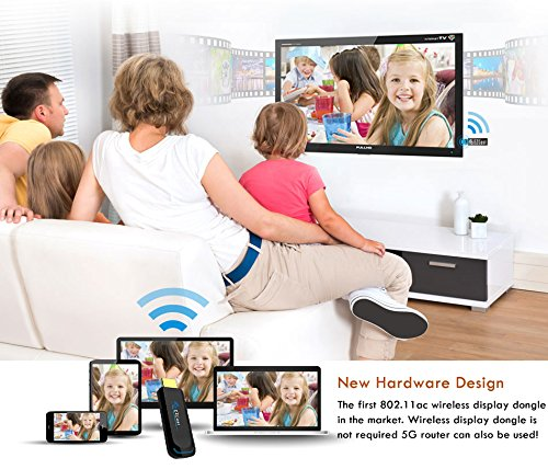Ezcast Wireless Display Dongle Wifi 2.4G HDMI TV Stick Screen Mirroring Adapter for DLNA Airplay Miracast Support IOS Andorid Windows to TV Monitor Projector Up to 1080P by Yehua (Image #1)