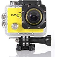Becoler Waterproof WIFI Sports Action Camera 14MP 2.0-Inch HD Diving Sports Camera with Battery and Accessories Kit Included,Yellow(Memory Card Not Included)