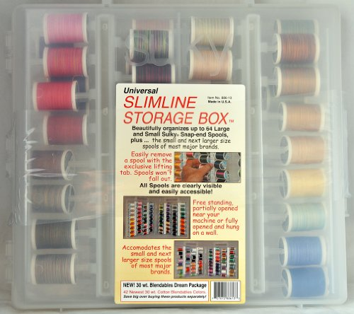 Sulky 42 of the Newest 30 wt. Cotton Blendable All New Colors in Slimline Storage Box 886-13 by Sulky