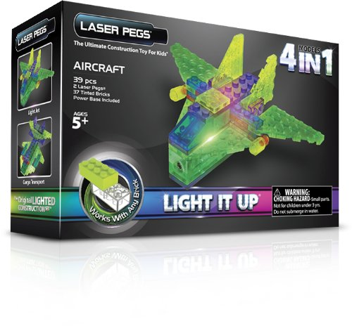 Laser Pegs 4-in-1 Aircraft Building Set ()