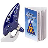Deekec-Legend-of-Zelda-Ocarina-12-Hole-Alto-C-with-Song-Book-Songs-From-the-Legend-of-Zelda-Display-Stand-Prot
