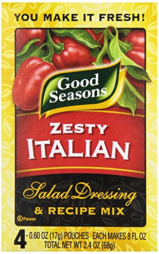 Dressing Mix (Kraft Good Seasons Salad Dressing and Recipe Mix, Zesty Italian, 2.4 Ounce)