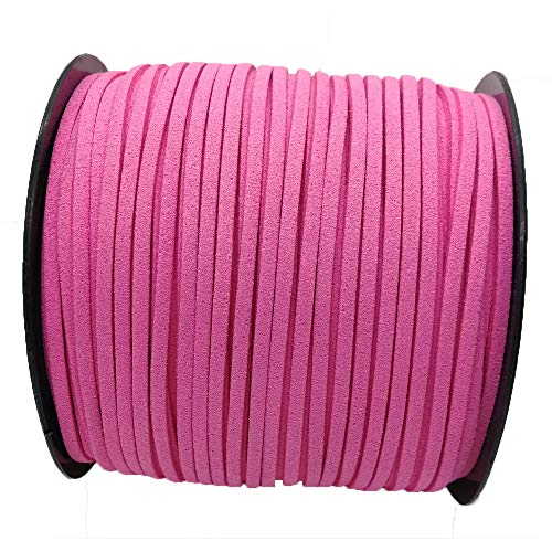 100 Yards 20 Colors 2.6mm Suede Korean Velvet Leather Thread (hot Pink)