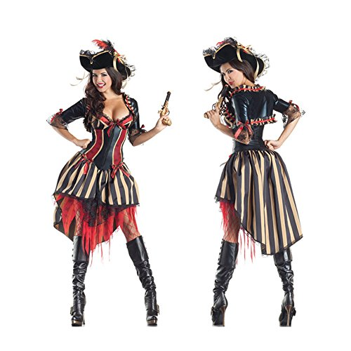 LifeWheel Ladies Pirate Fancy Dress Sexy Halloween Party Cosplay Costume Outfit for $<!--$28.18-->