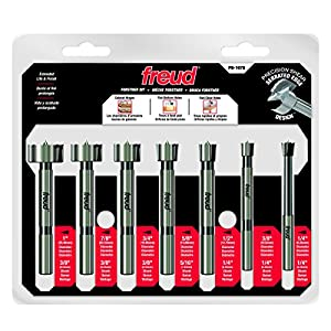Freud 7 Pcs. Precision Shear Precision Shear Forstner Drill Bit Set (PB-107B) by Freud