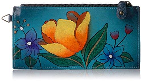 Anna by Anuschka Organizer Wallet   Genuine Leather   Floral Garden ()