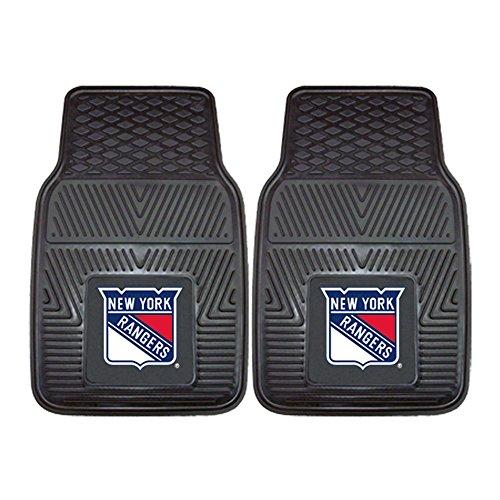 (Fanmats 10474 NHL New York Rangers Front Row Vinyl Heavy Duty Car Mat - 2 Piece)