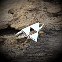 Zelda Ring Triforce Protection Ring Zodic Ring New Collection For Christmas Silver Jewelry Unique Piece