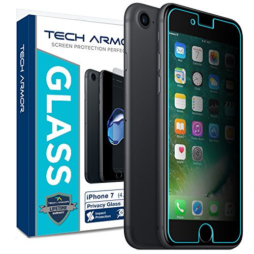 Tech Armor Apple iPhone 7/iPhone 8 (4.7-inch) Privacy Ballistic Glass Screen Protector [1-Pack] for Apple iPhone 7/8