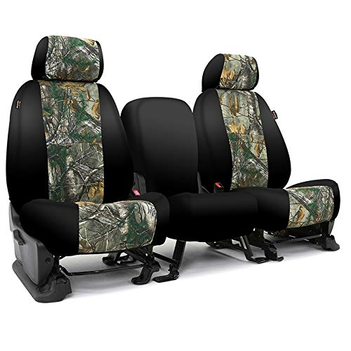 Coverking CSC2RT05FD10019 Tailored Seat Covers Neosupreme Camo Realtree Xtra with Black Sides for 2015-2018 Ford Truck F-150/250/350 NO SuperDuty
