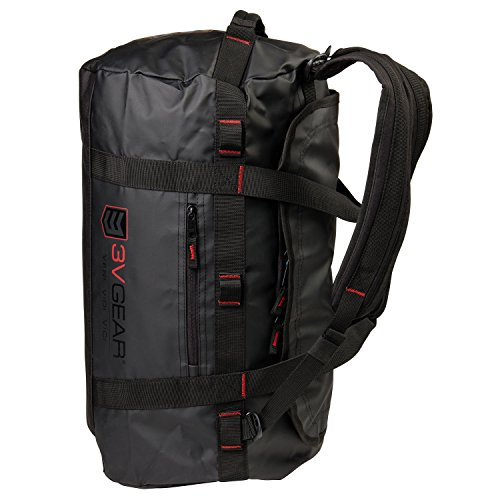 3V Gear Smuggler Adventure Duffel Bag - Heavy Duty Duffel Bag Backpack (45L) - Rucksack Style Shoulder ()