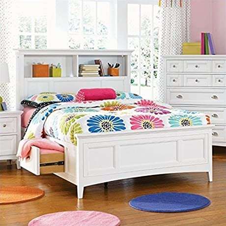 Magnussen Kenley Bookcase Bed With Optional Storage In White Twin